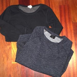 2 for 1- cotton sweatshirts- worn once- MINT SHAPE